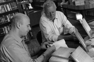 Authors of  Faces of Freedom, Lives of Courage, Tom Sears (right) and Radu Cristea at a book signing.